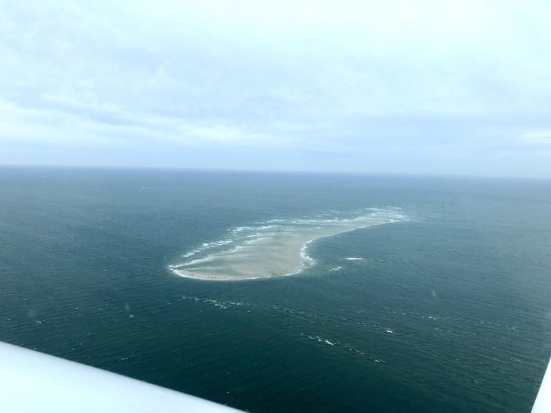 Wattenmeer Insel mit gut sichtbaren Robbenkolonien